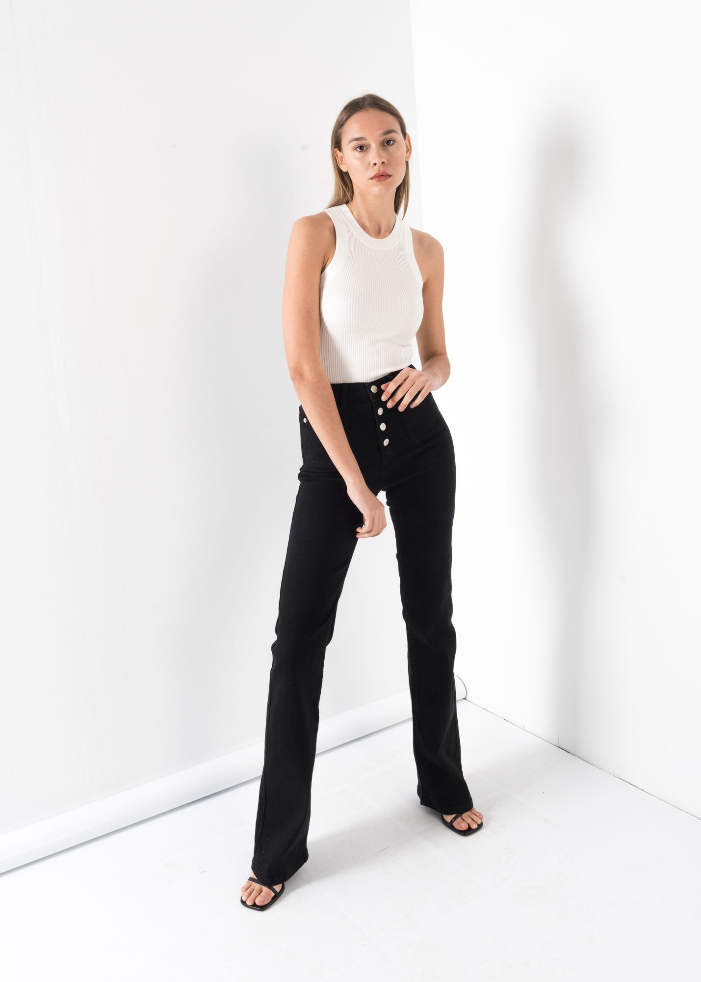 POCHES FLARE JEANS